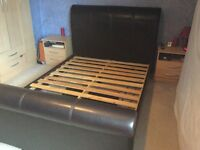 Double sleigh bed reduced