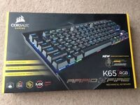 Corsair K65 RGB Rapid Fire Cherry Red Mechanical Keyboard