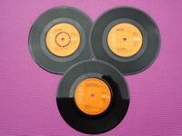 3 Original DAVID BOWIE cOLLECTABLE 45rpm Vinyl Singles Records