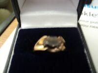 9crt gold Smokey Quartz ring