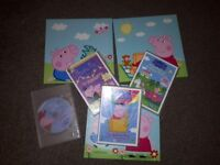 Peppa Pig wall pictures and dvd's