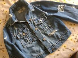 Girls new look denim Jacket age 10-11yrs