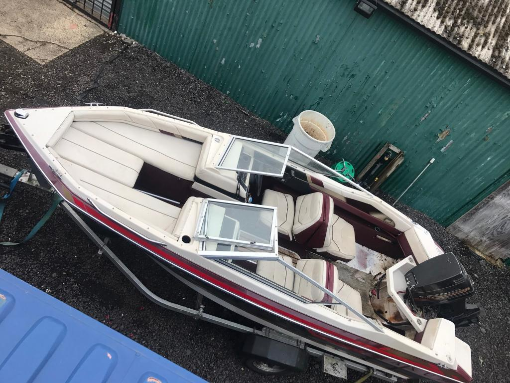 Maxum 1700xr Bow Rider Speed Boat Trailer And 70hp
