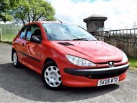 """""""LOW MILEAGE"""" (2005) PEUGEOT 206 1.1 INDEPENDENCE - FULL VOSA SERVICE HISTORY - LONG MOT"""