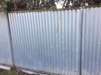 20 heras solid fencing panels with feet and brackets