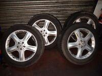 Mercedes ml 19 inch alloy wheels / tyres