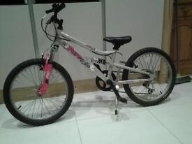 Girl's bike - silver grey frame