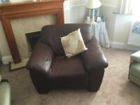 Cheap Single Brown Leather armchair