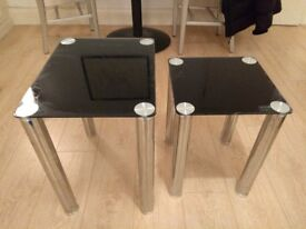 Pair of nested TV dinner tables.