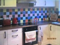 Kitchen ceramic wall tiles - job lot of 14sq + meters or sell individual - vibrant - 100mm sq