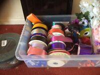 Florist supplies ribbon etc