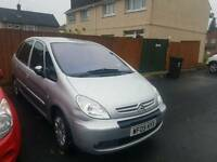 2005 reg Citroen PICASSO in silver ,drives well ,ideal for family ,px welcome