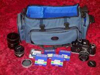 NIKON F2A PHOTOMIC - 35mm NIKKOR 2.8 - 50mm NIKKOR 1.8 - FILTERS - BAG - ALL VGC - £375 ONO.