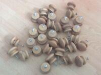 Job lot of wooden door knobs
