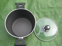 Ballarini Non-Stick Cooking Pot with Steamer and Glass Lid