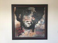 Lanny Kravitz Investment painting by Celine Lust and signed, framed, market price EUR14200