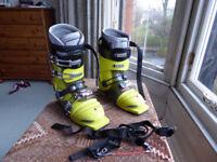Crispi Telemark Ski boots. Plastic Telemark boots. Yellow.