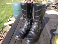 Black Leather Motor Cycle Boots Forma Street Brand Weymouth