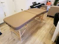 Haby's Gallo Plus Wooden Portable Massage Table plus accessories