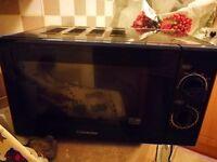 Cookworks black microwave