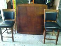 Solid wood table four chairs