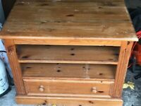 Solid wood tv storage unit