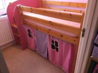 Scallywag SHORTY convertible mid sleeper children's cabin bed