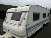Hobby exclusive fix bed 6 berth twin axle
