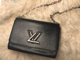 Louis Vuitton black twist lock bag for sale excellent condition