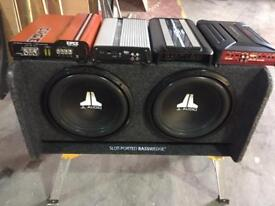 Amplifiers and subwoofer!