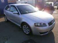 2004 AUDI A3 2.0 TDI SE 3DOOR HATCHBACK, SERVICE HISTORY, CLEAN CAR, DRIVES VERY NICE, CHEAP TO RUN