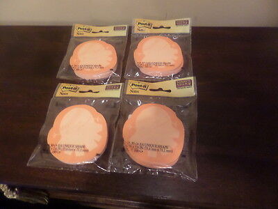 Lot Of 4 Pkgs New Post It Notes Super Sticky Unique Shapes Made In Usa By 3m