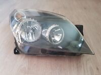 Complete front offside Headlight unit, black not chrome, from Vauxhall Astra H, 5 door - 59 Reg