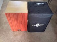 gear4music cajon with backpack and pad!