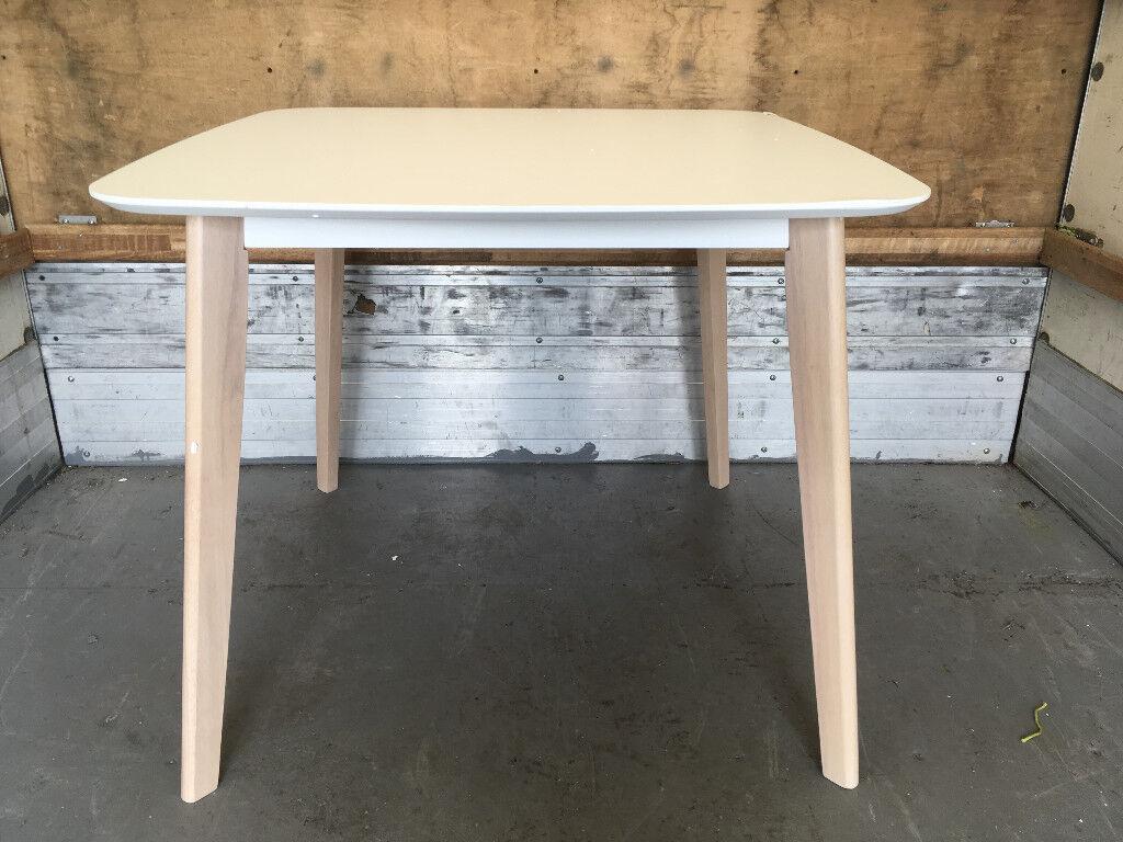 Julian Bowen Casa Dining Table, White