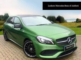 Mercedes-Benz A Class A 200 D AMG LINE PREMIUM PLUS (green) 2017-09-01