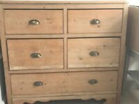 old pine chest of drawers