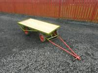 5x2.5 turntable boggy trailer can be towed or hand pulled farm tractor removals