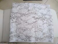 Plastic table cloth covering