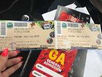 2 x Kendal calling weekend tickets with parking no Thursday