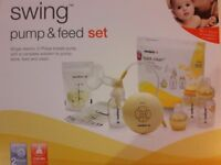 Medela Swing Breast Pump and Feed set plus Avent Breast Shells