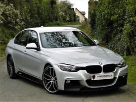 WOW (2013) BMW 318D M SPORT M PERFORMANCE PACK F30+ LEATHER + 19 INCH ALLOYS +FSH+ FINANCE AVAILABLE