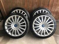 "Ford st 18"" alloys wheels mondeo,focus,connect,galaxy"