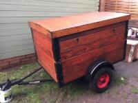 Lovely wooden trailer car trailer