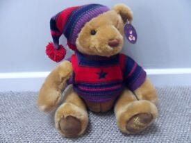 """Harrods 2004 Christmas Teddy Bear 13"""" Xmas bear - £25.00 - Collection only Stourbridge DY8 4 area"""