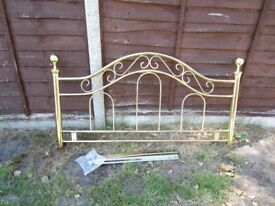 Victorian style Brass headboard for 5ft bed