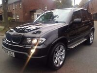 BMW X5 3.0 D SPORT EXCLUSIVE 2006 FULL SERVICE HISTORY FULL SPEC PANORAMIC ROOF TV SAT NAV P/X WELCO