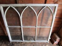 SASH WINDOW - TIMBER WITH 3 ARCHES (TOP HALF ONLY)