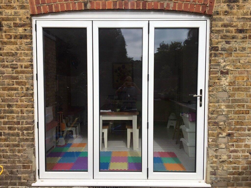 3 Door White Aluminium Bifold Doors In Streatham Hill
