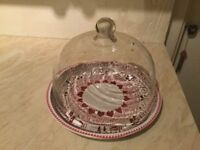 Emma Bridgewater tray and glass dome £20